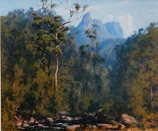 COX, Graham (b.1941) 'A View of Mt. Warning,' 1994.