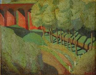 DUNCAN, George (1904-1974) 'Viaduct,' c.1934-35. Ma