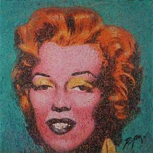 ROPAR, Dennis (b.1971) 'Marilyn' Acrylic on Canvas
