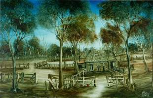 HART, Pro (1928-2006) 'The Two Stand Shearing Shed'