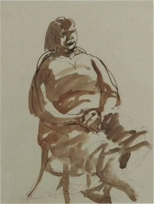 DRYSDALE, Russell (1912-1981) Seated Woman. Studio