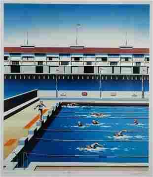 WILLEBRANT, James (b.1950) 'The Boy's Pool,' 1997.