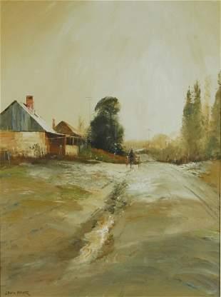 PARKER, Colin (b.1941) 'Frosty Morn at Trunky Creek