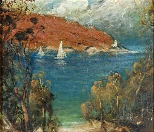 COPES, Dixon (b.1914) 'Church Point' Oil on Cedar P