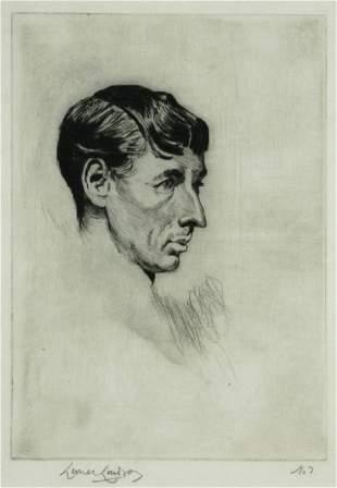 LINDSAY, Lionel (1874-1961) 'Norman Lindsay,' 1918.