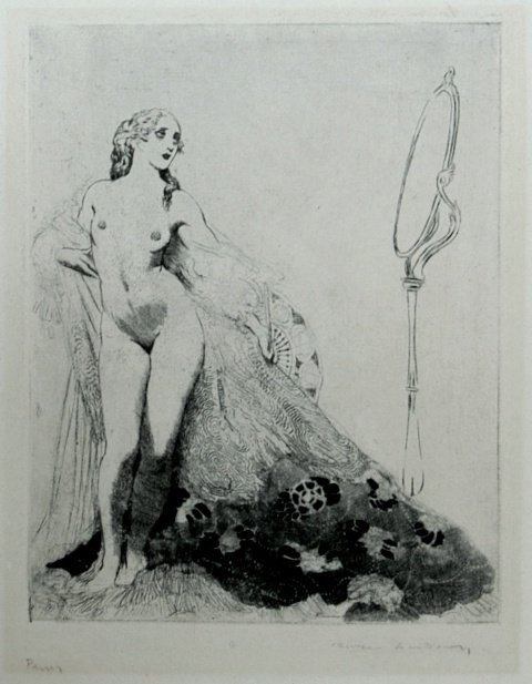 73: LINDSAY, Norman (1879-1969) '(The Drape)' c.1920.