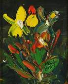 123: HART, Pro (1928-2006) Floral Compostion with Yello