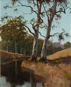 166: BEST, Kevin (b.1932) 'River Twins,' 1979. Oil on B
