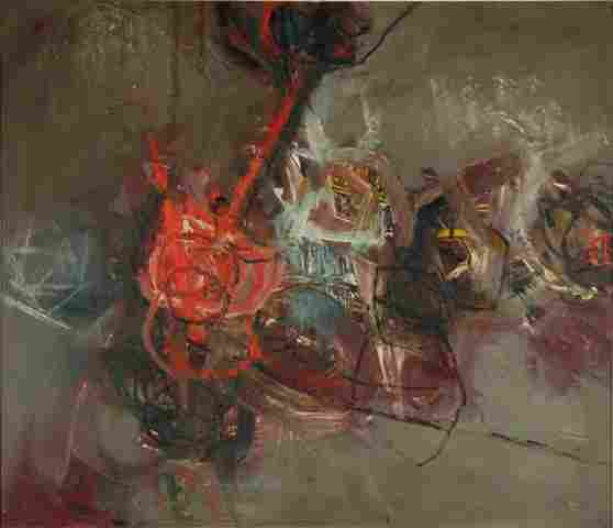 HILL, Daryl (b.1930) Abstract, 1962. Oil on Board