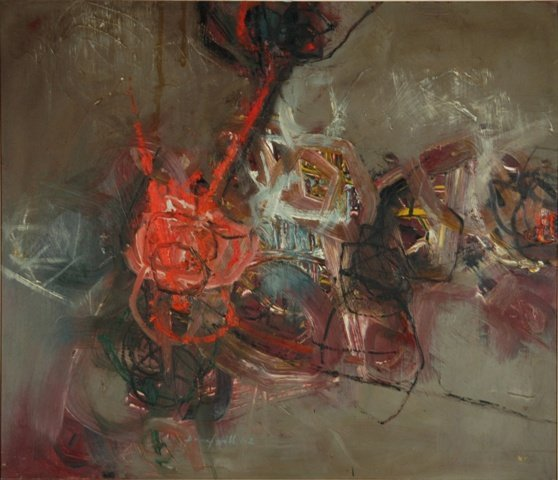 174: HILL, Daryl (b.1930) Abstract, 1962. Oil on Board