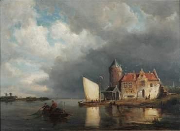 287: DOMMERSON, Pieter Cornelis (1834-1908) Casting Net