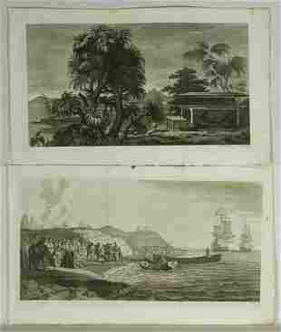 Two Etchings from 'Cooks Voyages' Johann CG FRITZS