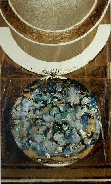 2: PIGGOTT Abstract, 1977. Mixed Media on Paper 87.5x53