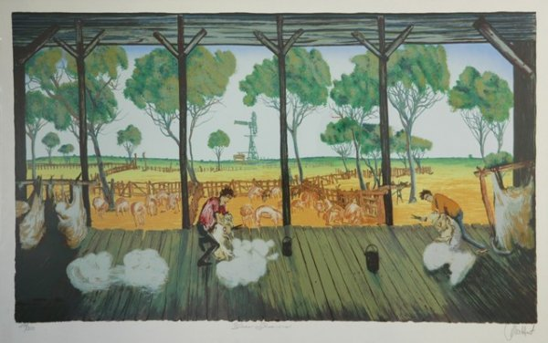 3: HART, Pro (1928-2006) 'Blade Shearers' S/Print 244/3