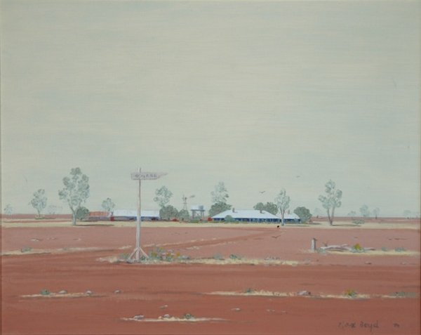 5: BOYD, Max  'Sign Post West II,' 1980. Oil on Canvas