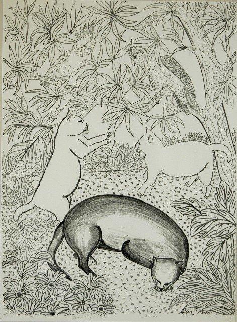 10: TODD, Milan (b.1922) 'Playtime,' 1985. Lithograph 5
