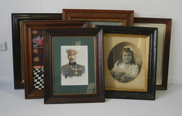 15:  6 Various Early Framed Pictures.  Including Lord K