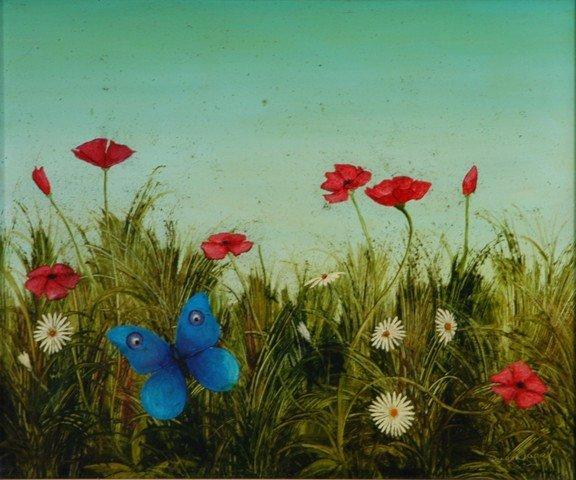 20: NAGEL, Sue (b.1942) 'Spring Fields' Oil on Board 24