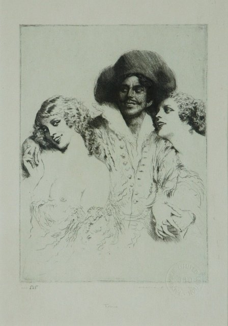 22: LINDSAY, Norman (1879-1969) 'Trio.' Facsimile Etchi