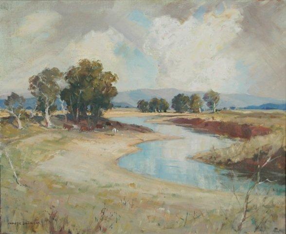 23: JACKSON, James R. (1882-1975) 'Ovens River near Bri