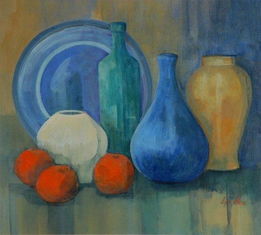 24: HESS, Lyn 'I Love Blue,' 1999. W/Clr 45x50cm