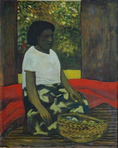 1001: CROOKE, Ray (b.1922). Island Woman Seated with Ba