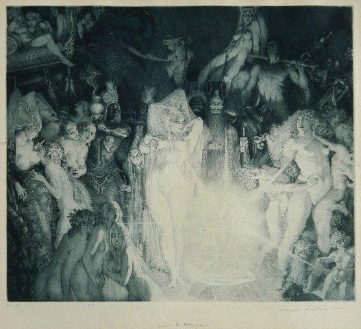 1004: LINDSAY, Norman (1879-1969). 'Enter the Magicians