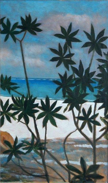 1005: CROOKE, Ray (b.1922). Cassava Growing on a Tropic