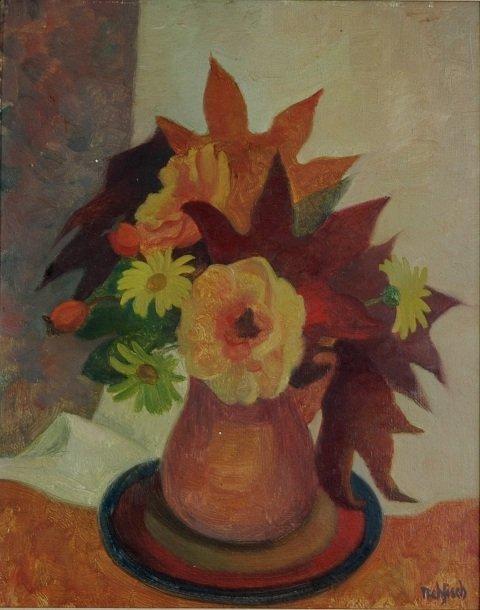 1008: REHFISCH, Alison (1900-1975). 'Autumn Rose.'  Dav