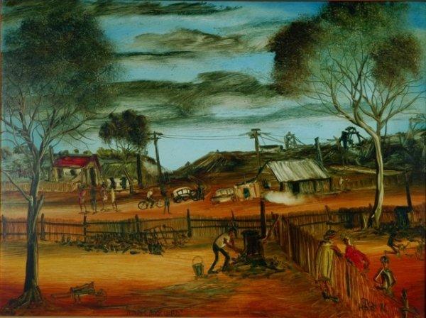 1011: HART, Pro (1928-2006). 'Miner's Backyard,' 1976.