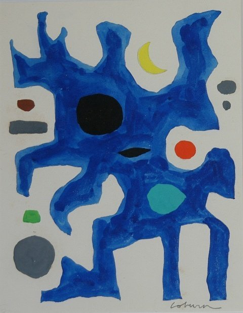 1015: COBURN, John (1925-2006). Astral Shapes  Acrylic