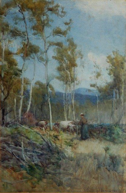 1019: HANSON, Albert (1866-1914). 'Among the Swampba[rk