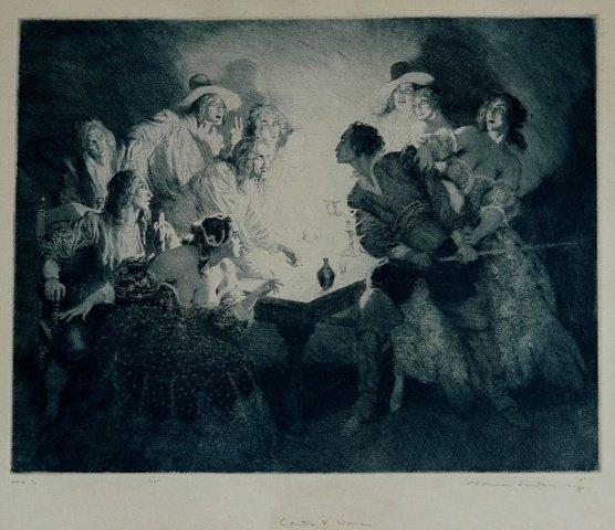 1021: LINDSAY, Norman (1879-1969). 'Cards & Women,' 192