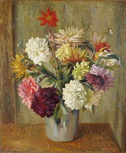 1033: SMITH, Joshua W (1905-1995). 'Flowers Piece,' Syd