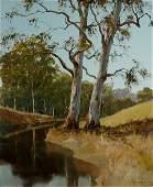 1142: BEST, Kevin (b.1932). 'River Twins,' 1979. Oil o