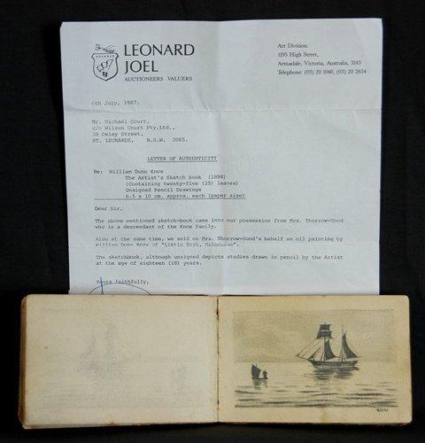 1204: KNOX, William Dunn (1880-1945). Artist's Sketch B