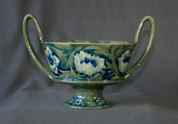 21: William Moorcroft Double Handled Footed Bowl.  Sign