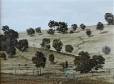 45: TAYLOR, Michael (b.1950). 'Hills Near Bega' Oil o