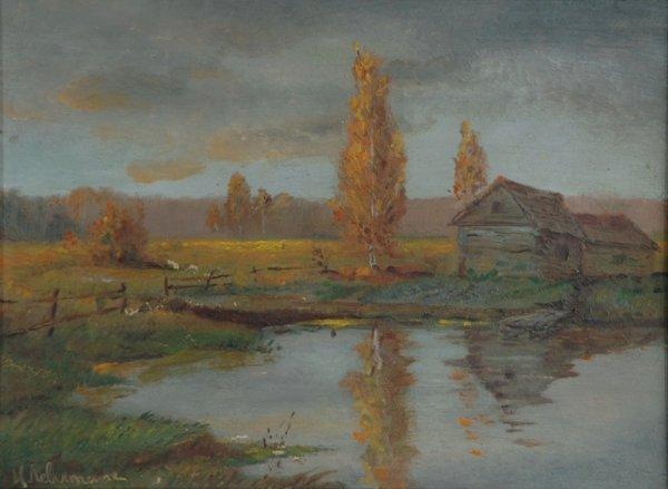 1001: Signature LEVITAN (Isaak Il'ich 1860-1900)  Russi
