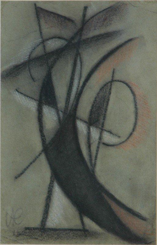 1019: Initialled I K (?Ivan KLIUN 1873-1943)  Abstract,
