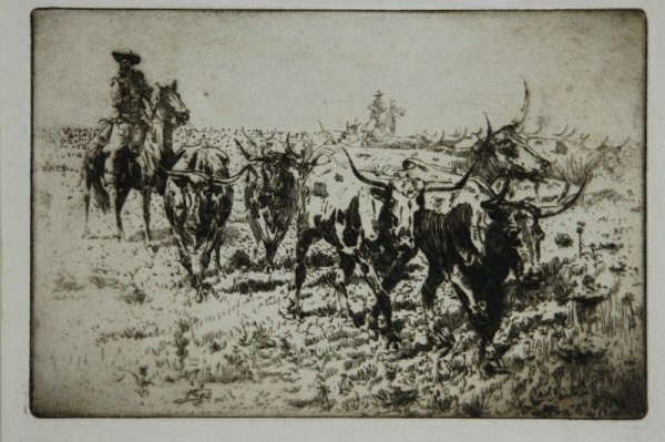 1245: BOREIN, Edward (1872-1945)  'The Strays from the