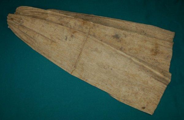 3: New Guinea Beaten Bark Cloak.  Gathered top with nat