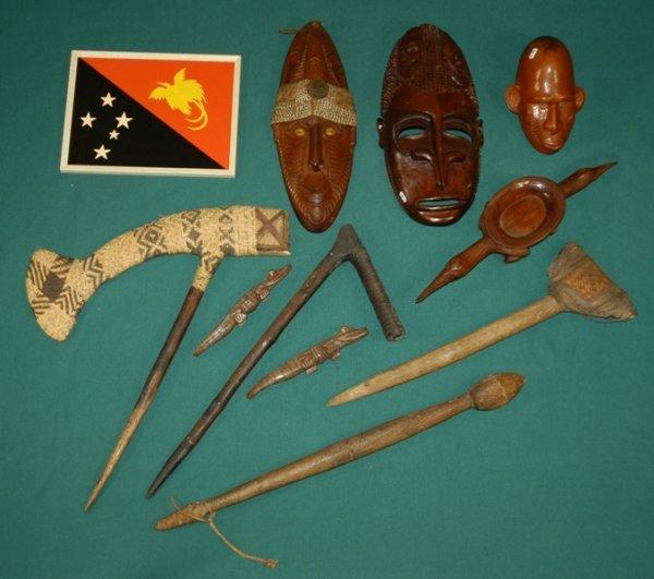 6: Various Papua New Guinea Artifacts.  Including touri