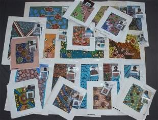 Aboriginal School (34) Various Works by Various Art
