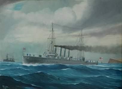 171: BORSTEL, Reginald Arthur (1875-1922) 3 Warships at