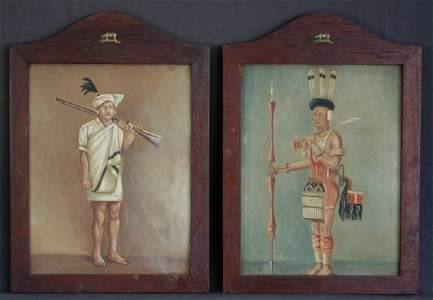 250: Indian School (2) Traditional Warriors. In early o