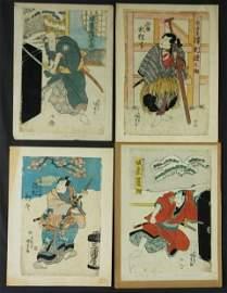 416: KUNISADA (1823-1880) (4) 4 Various Actors; Mitsugo