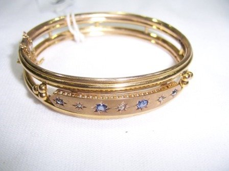 1643: Edwardian 9ct Y/G Bracelet