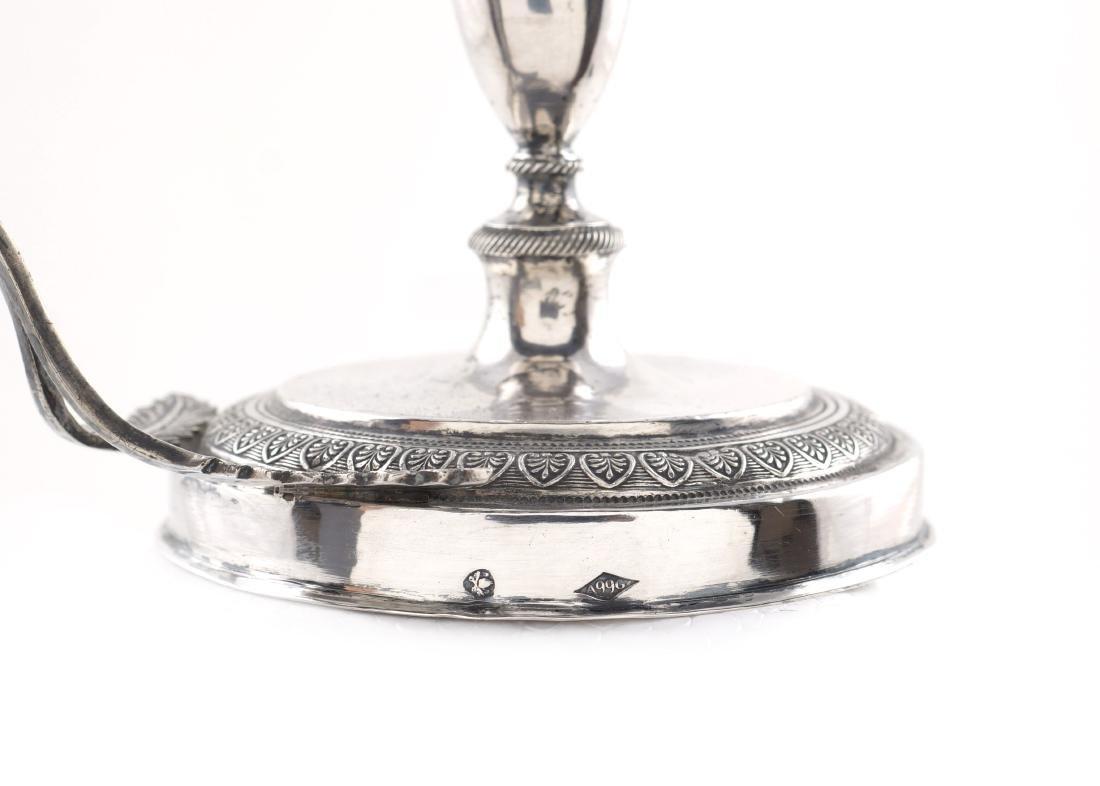 A silver candlestick Rome, half of 18th century peso