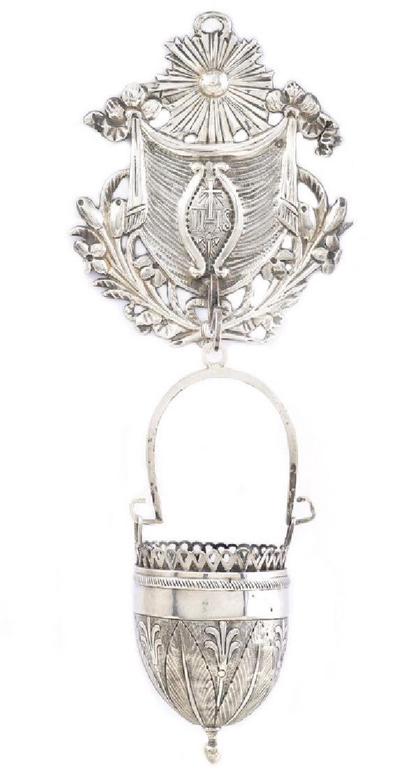 A silver stoup Rome, 19th century peso 105 gr.